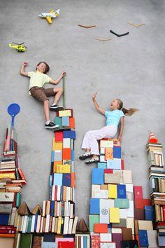 Torres de libros.
