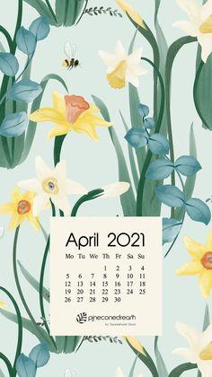 April 2021 free calendar wallpapers & printable planner, illustrated – Daffodil Rumors | Pineconedream by Gyaneshwari Dave