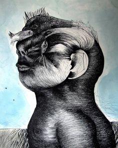"""Saatchi Art Artist Fernando Guibert; Drawing, """"Narcissus"""" #art"""