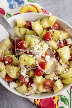 Greek Cucumber Salad- Healthy and Guilt Free! - Southern Plate