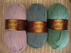 Palma Violet, Storm Blue and Sage - new Stylecraft colours