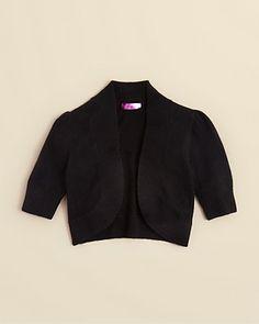 AQUA Girls' Puff Sleeve Bolero - Sizes S-XL | Bloomingdale's