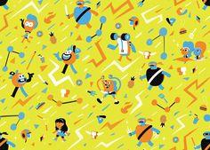4 Nickelodeon Patterns on Behance by Juan Molinet.