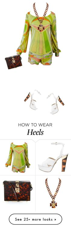 """""""Pucci and white and gold."""" by misnik on Polyvore featuring Emilio Pucci, Chanel, Michael Kors and Dolce&Gabbana"""