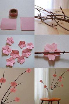 Paper flowers decor / «Весна идет — весне дорогу!»: 40 вариантов простого и радостного декора - Ярмарка Мастеров - ручная работа, handmade