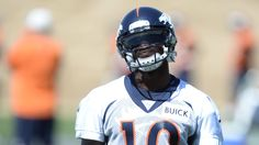 Emmanuel Sanders drives to training camp Nfl Broncos, Denver Broncos, Emmanuel Sanders, Football Helmets, Camping, Train, Sports, Campsite, Hs Sports