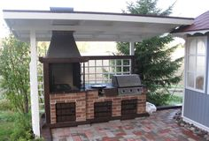 Pergola, Gazebo, Outdoor Spaces, Outdoor Living, Outdoor Decor, Barbecue, Patio Grill, Bbq Grill, Kitchen Grill