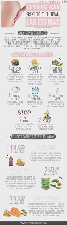 ^^ Tips to prevent and eliminate stretch marks :)- ^^ Consejos para prevenir y eliminar las estrias 🙂 ^^ Tips to prevent and eliminate stretch marks :] - Beauty Make Up, Beauty Care, Beauty Skin, Health And Beauty, Beauty Secrets, Beauty Hacks, Body Hacks, Tips & Tricks, Hygiene