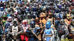 How many Mandalorian mercenaries can you fit in the Anaheim Convention Center? Looks like all of them.