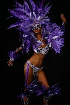Carnival ~ Trinidad is the larger and more populous of the … - Rosenmontag Brazil Carnival, Trinidad Carnival, Caribbean Carnival, Carribean Carnival Costumes, Purple Love, All Things Purple, Shades Of Purple, Dark Purple, Carnaval In Rio