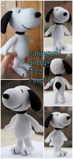 In this article we will share the amigurumi dog snoopy free crochet pattern. Amigurumi related to everything you can not find and share with you. Crochet Dog Patterns, Amigurumi Patterns, Amigurumi Doll, Cute Crochet, Crochet Baby, Knit Crochet, Crotchet, Knitted Dolls, Crochet Dolls