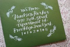 I love this ... those little flowers! cute!  Primele Calligraphy - Hudson