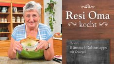 Resi Oma kocht - Kümmel-Rahmsuppe mit Quargel - YouTube Lettering, Youtube, Desserts, Blog, Herd, Soups, Videos, German Recipes, Pies