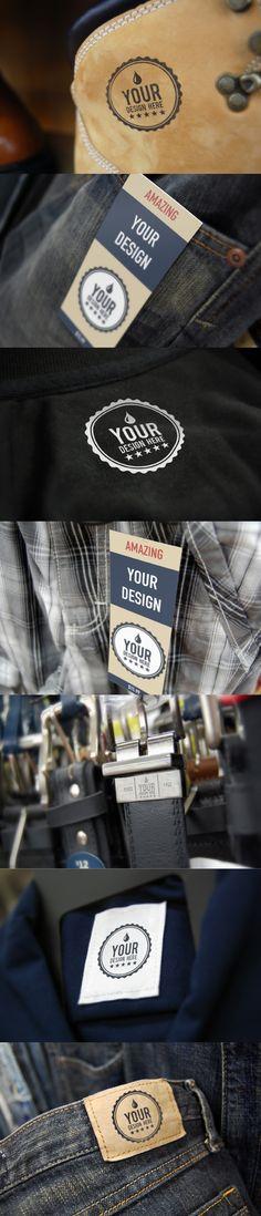 FREE Apparel Tag Realistic Mock Ups Designs -