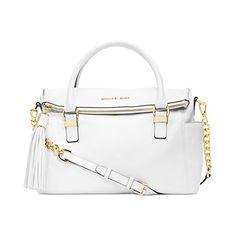 4dee5d724b90 Michael Kors Handbag, Weston Medium Satchel (Optic White) ** Check out this