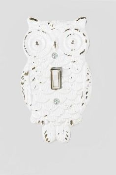 The Owl Light Switch Plate by Creative Co-Op has a distressed painted look that will add a unique touch to any room! Owl Home Decor, Unique Home Decor, Granny Chic, Creative Co Op, Light Switch Plates, Owl House, Happy Colors, Home Gifts, Unique Gifts