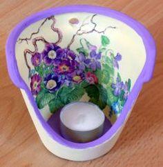 Windlicht Frühlingsblumen  http://bastelzwerg.eu/farbenfrohes-Windlicht-Fruehlingblumen-mit-Zweigen?source=2&refertype=1&referid=5