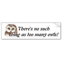 .Ther's no such thing as too many Owls. Agreed :) No... there is not :)