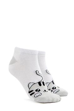Cat Ankle Socks - Accessories for Women | Sunglasses, Backpacks & Wallets | Forever 21 - Socks & Tights for Women | Ankle, Sheer, Mesh & More | Forever 21 - 2000139440 - Forever 21 EU English