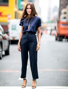 dressy trousers with silk top 2017