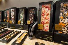 ChocoMe, artisan chocolate in the Hungarian Design Pop Up Store at Boxpark Shoreditch in London. July 1 - August 31, 2013.