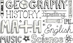 View Vector Art of School Subjects Doodles. Find premium, high-resolution photos at Getty Images. Doodle Art Posters, Heart Hands Drawing, School Subjects, Inspirational Videos, Free Vector Art, Primary School, Pattern Art, Art School, Geography
