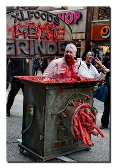 I'll just take this grinder for a walk. Freakin awesome zombie