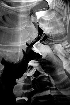 Antelope Canyon #travel #photography #blackandwhite