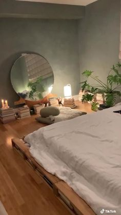 Oversized Mirror, Bed, Furniture, Home Decor, Stream Bed, Interior Design, Home Interior Design, Beds, Arredamento