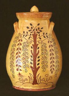 Jar | Tree of Life on a lovely stoneware jar.
