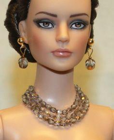"""Smoked Gold"" Jewelry Set for Tonner Tyler Ellowyne Dee Anna Gene Sybarite"