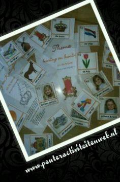 Thema Koning en Koningin en de troonopvolging is een groot succes. Woordkaarten zijn gratis te dowloaden via de site van www.peuteractiviteitenweb.nl