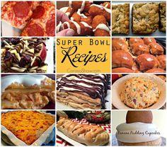 Super Bowl Recipes | A collection of recipes that will make your Super Bowl food game a big win! Bacon Cheeseball, Buffalo Chicken Lasagna, Banana Pudding Cupcakes, and more!