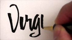 Folded pen Calligraphy - Virginia #foldedpen #calligraphy #lettering #Virginia #handlettered