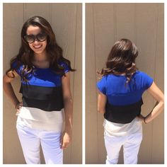 LISTING Colorblock Top ❗️SALE❗️ Adorable paired with white shorts or capris. Color Story Tops