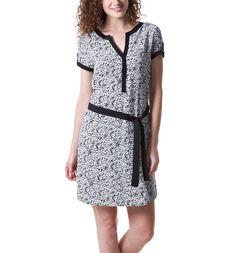 Printed dress - Black print - Women - Dresses - Promod