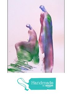 Color full Painting of Women on White Paper - Size-5x7- Purple, Green and Red Colors-Original Painting of Female Figure using Palette Knife-4 from Red Studio http://www.amazon.com/dp/B01FK84THG/ref=hnd_sw_r_pi_awdo_IbUqxb00ZAH27 #handmadeatamazon