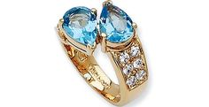 Jacqueline Kennedy Jewelry : Blue Pear Ring
