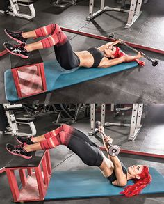 Some pretty good exercise ideas . Body Slam Your Fat Zones Take down stubborn flab for good! This total-body blast, as demoed by Eva Marie, WWE Diva and star of E!'s Total Divas, turns up your fat-fighting furnace Fitness Workouts, Fitness Goals, Fitness Tips, Fitness Motivation, Health Fitness, Butt Workouts, Weight Lifting, Weight Training, Body Weight