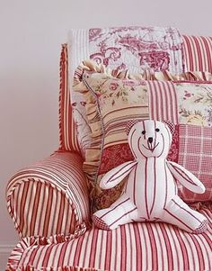 red toile teddy