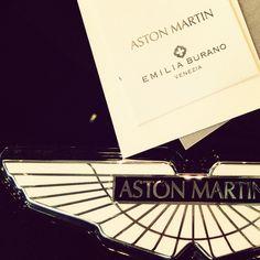 Aston Martin home linen tag designed by Emilia Burano Venice Italy