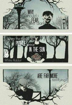 Por que eu deveria ter medo do escuro, quando as máscaras que as pessoas usam durante o dia são muito mais aterrorizantes?