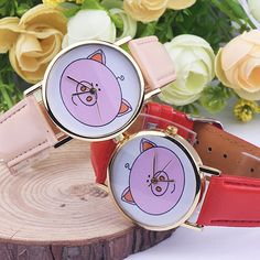 >> Click to Buy << Women Cute Pig Pattern Faux Leather Band Analog Quartz Fashion Wrist Watches #Affiliate