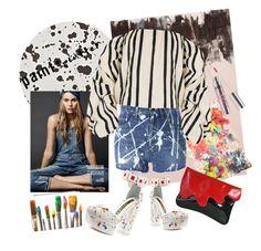 """paintz"" by pankynanky on Polyvore featuring Tisch New York, Franco Ferrari, Casetify, Kat Maconie, Yves Saint Laurent, Pop Beauty, Johanna Ortiz and paintsplatter"