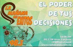 #felizlunes los esperamos!  #Repost @pulvedaniel with @repostapp  Sintoniza Radio Canal 98.3 FM o visita la página http://ift.tt/1OYQM3t y escucha el programa de mi amigo @jesulingallardo #lamañanadeexitos983 hoy estaremos conversando sobre el tema motivacional #ElPoderDeTusDecisiones y como puedes llegar al éxito usando tu poder de decidir.  #Radio #Canal #Locucion #Lunes #NeuroLider #Actitud #Lider #Motivacion #Coach #Coaching #PNL #Caracas #Maracay #Valencia #Miami #Barquisimeto…