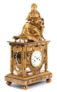 Höhe: 53 cm. Breite: 27,5 cm. Tiefe: ca. 19,5 cm. Frankreich, 19. Jahrhundert. WERK Achttagegehwerk, Pendel mit Fadenaufhängung. Halbstunden- und...