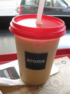 If it's warm enough, and we still have a sweet tooth ... Aroma Espresso Bar, SoHo, NYC.