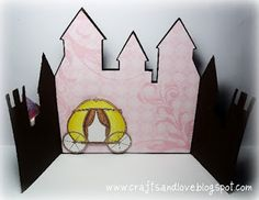 Printable princess castle let every guest make her own for Castle cut out template
