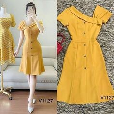 Simple Dresses, Pretty Dresses, Casual Dresses, Frock Fashion, Fashion Sewing, Chic Outfits, Fashion Outfits, Dress Outfits, African Fashion Dresses