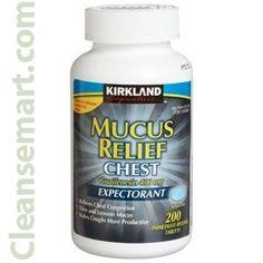 kirkland mucus relief chest expectorant, kirkland mucus relief tablets,
